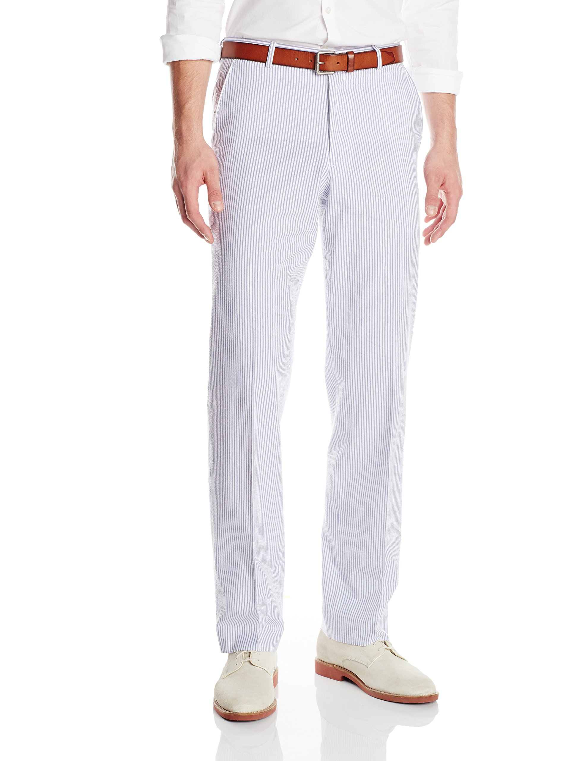 Palm Beach Men's Oxford Seersucker Suit Separate Pant, Navy/White, 34 Regular by Palm Beach