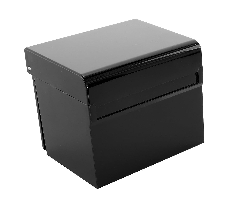 Osco Hi-Gloss Index Box avec 100cartes/onglets colorés–Noir Osco Europe AIBOX-OB