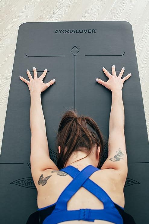 Artmatic - Alfombrilla de yoga profesional prémium con base ...