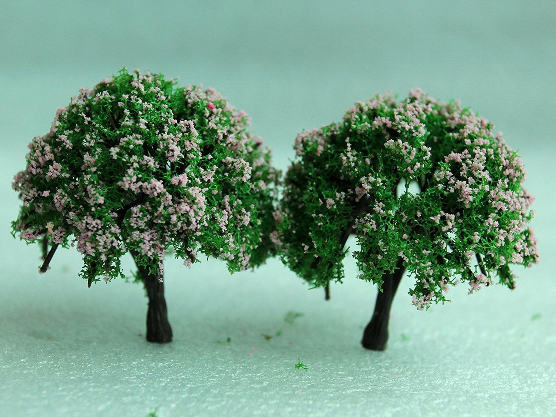 Beito Miniature Garden Fairy Ornament Flower Pot Plant Pot Home Decor 2pcs Tree Set