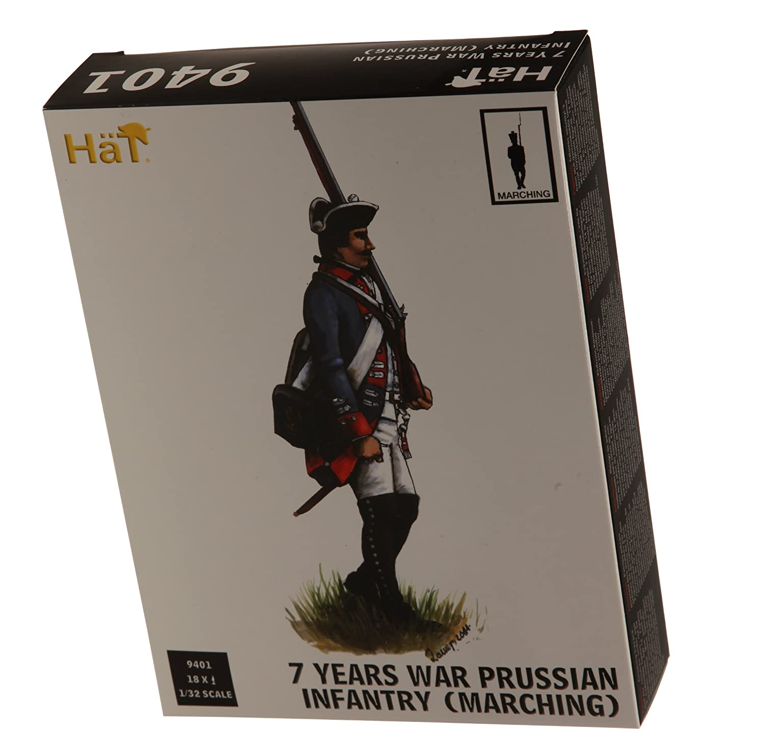 Hat 1//32 7 Years War Prussian Infantry # 9401 Marching