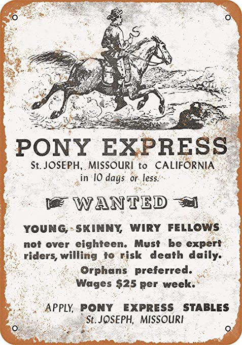 Amazon.com: Mariner 1861 Pony Express - Cartel de aluminio ...