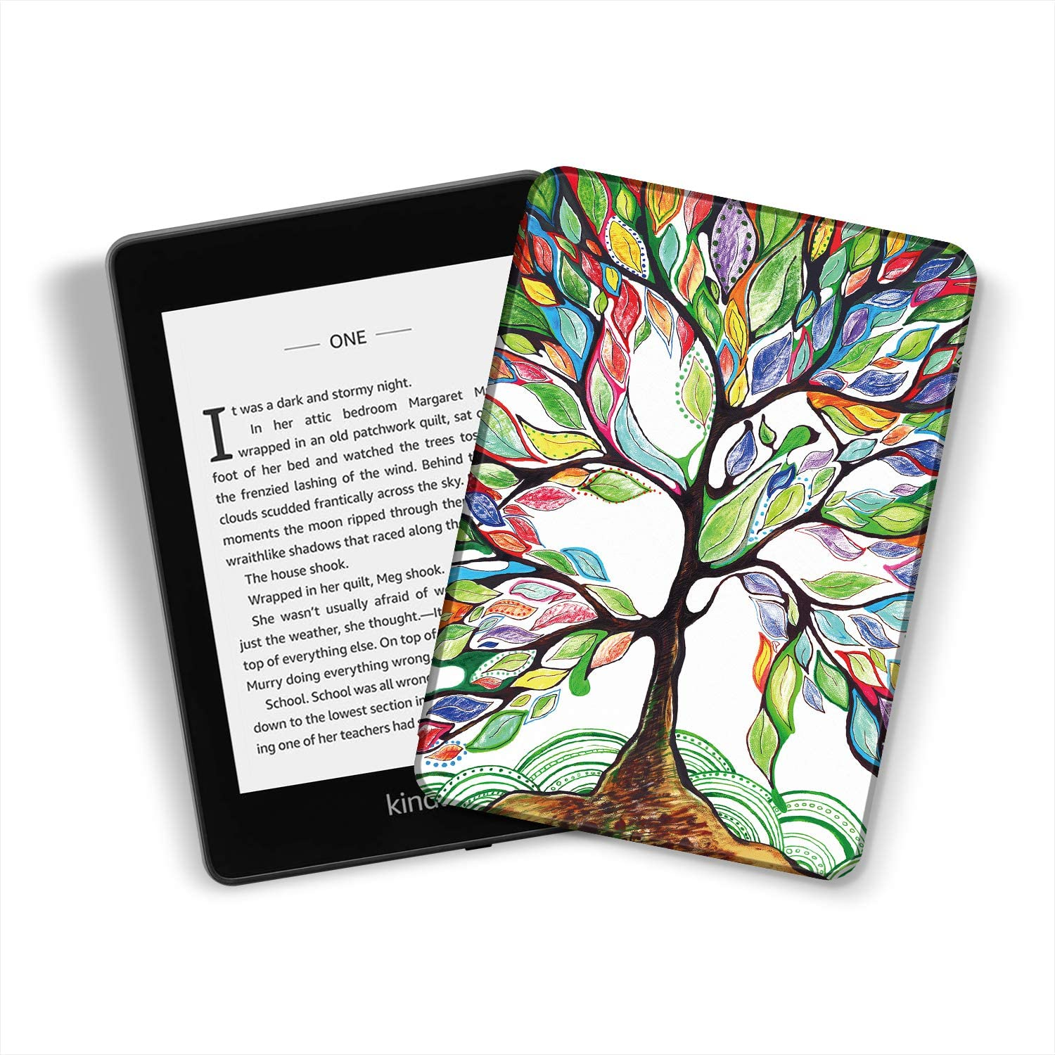 Ayotu Water-Safe Case for Kindle Paperwhite 2018 PU Leather Smart Cover with Auto Wake//Sleep ,K10 The Flowers and Fruits Fits  All-New Kindle Paperwhite Leather Cover 10th Generation-2018