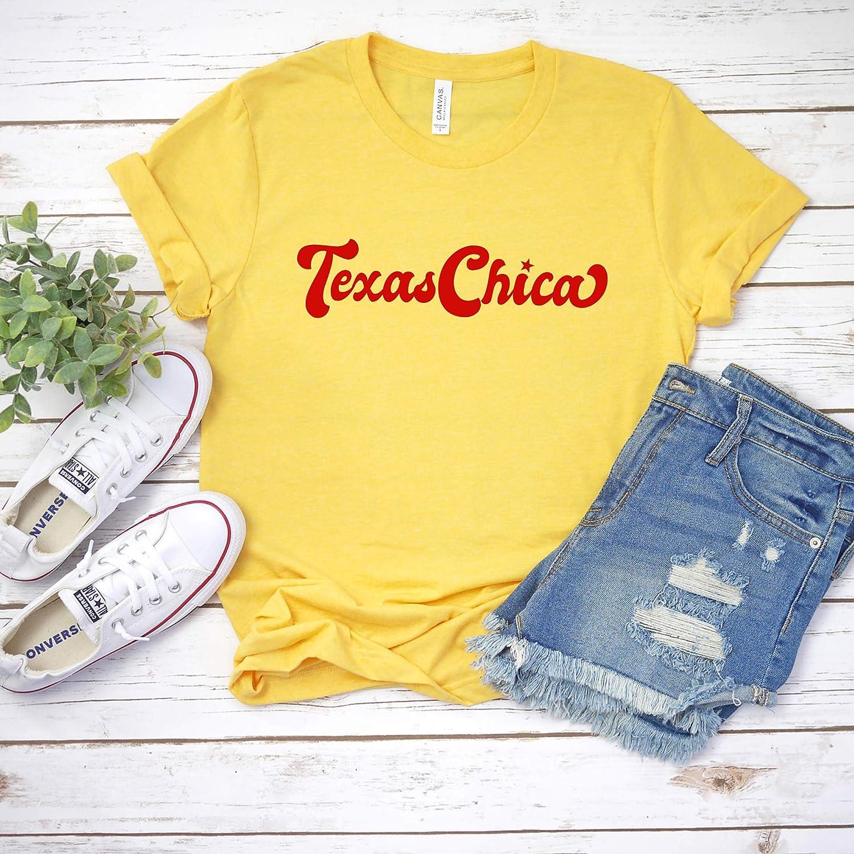 Amazon.com: Texas Chica Shirt, Womens Graphic Tees, Southern ...