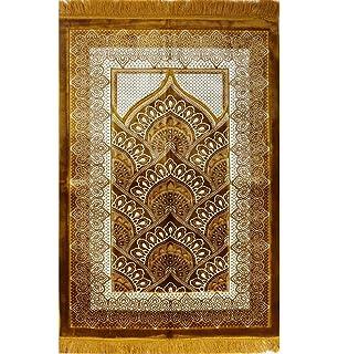 Wide BEST QUALITY Plush Velvet Islamic Prayer Rug Namaz Sajjadah Muslim  Namaz Seccade Turkish Prayer Mat