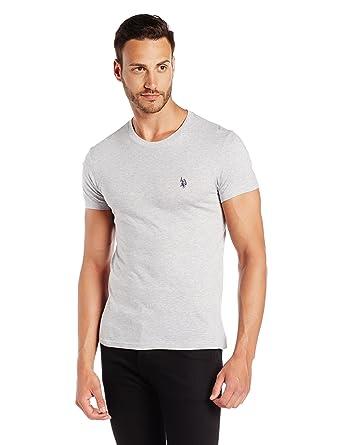 489cfc4317 US Polo Association Men's Crew Neck Cotton T-Shirt (I030-010-P1-S ...