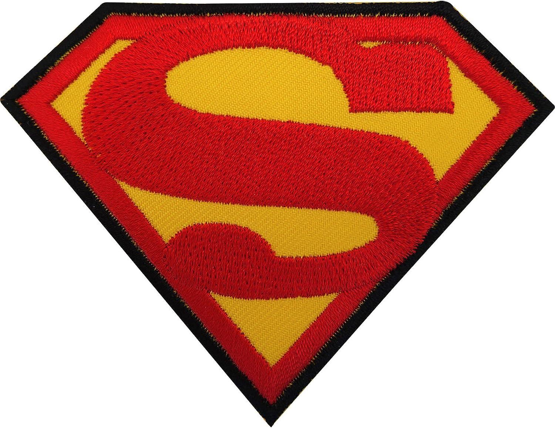 Superman parche hierro/sew en bordado insignia Logo Emblema Símbolo película película Toy