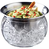 Prodyne ICED Dip-on-Ice Stainless-Steel Serving Bowl