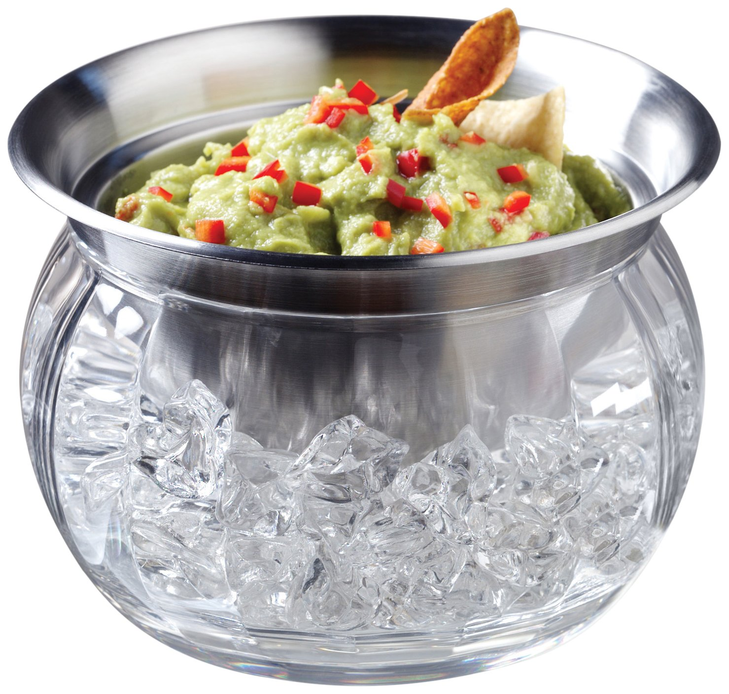 Prodyne Iced Dip-On-Ice Stainless-Steel Serving Bowl by Prodyne