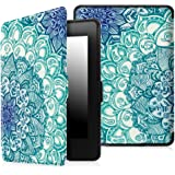 Fintie Case for Kindle Paperwhite - The Thinnest and Lightest PU Leather Cover Auto Sleep/Wake for All-New Amazon Kindle Paperwhite (Fits All 2012, 2013, 2015 and 2016 Versions), Emerald Illusions