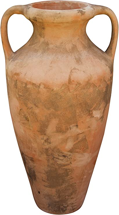 Anfora romana invecchiata, in terracotta toscana 70x55x120 cm