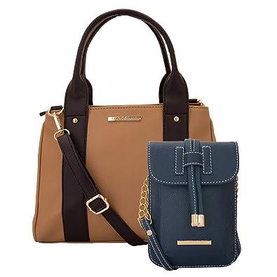 Lapis O Lupo Combo Kasha Women Handbag and Mobile Sling Bag (Beige ... 6eb98b8ca490d