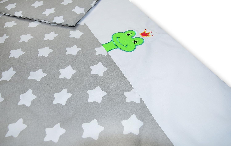 Amilian® Baby Bettwäsche Design: ZA06, 80x80 cm + 35x40 cm (2 tlg.) xyz122