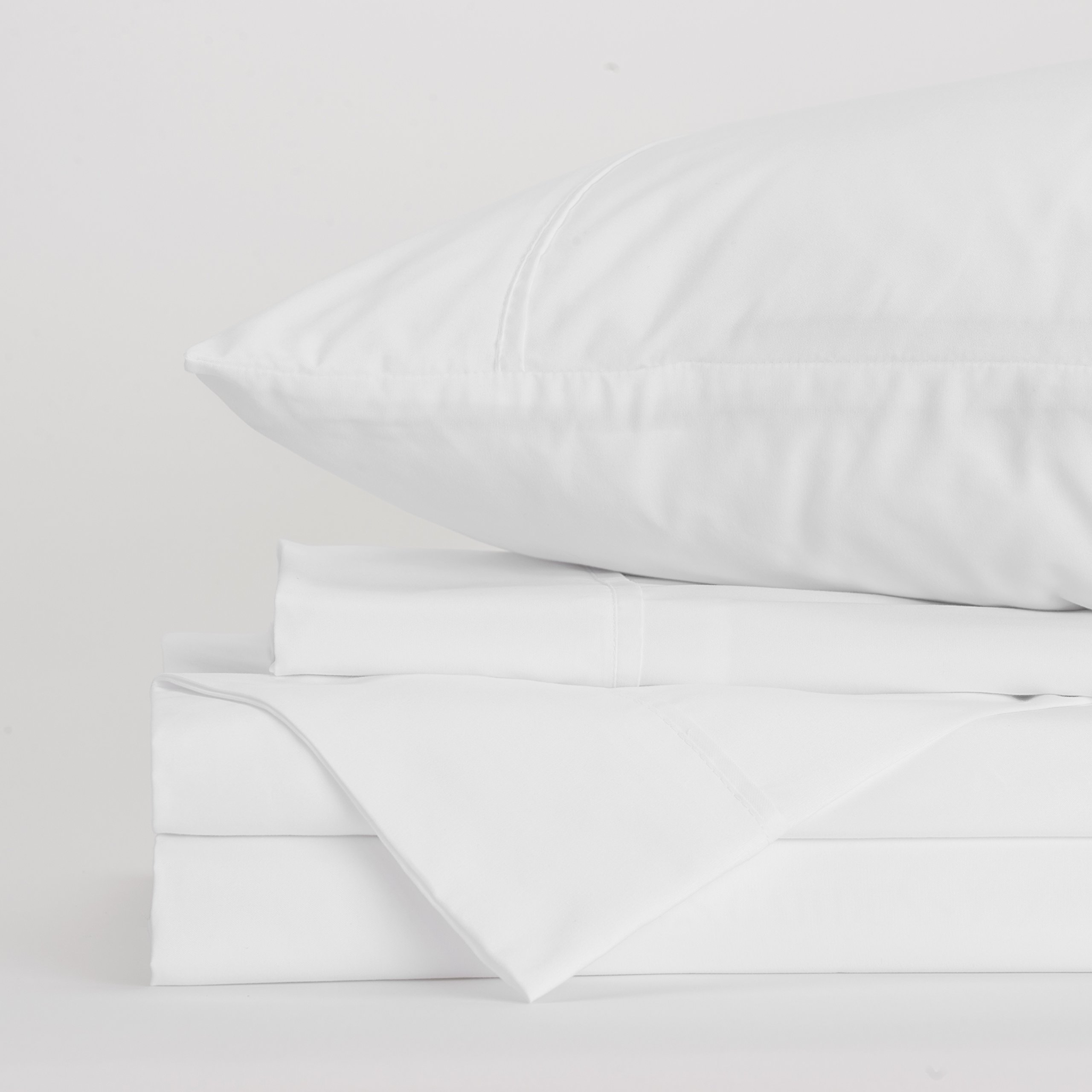 Jennifer Adams Home Lux Collection Sheet Set, 4-Piece Luxury Bed Sheets, Hypoallergenic and Wrinkle Free, Includes 1 Fitted Sheet, 1 Flat Sheet, and 2 Pillowcases (King, White)