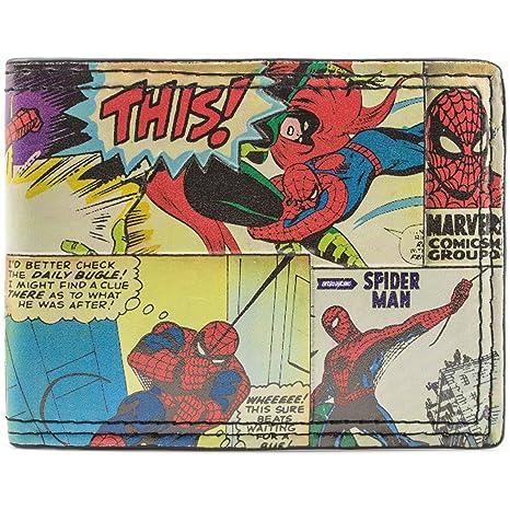 Cartera de Marvel Spider-Man Estilo cómico Multicolor