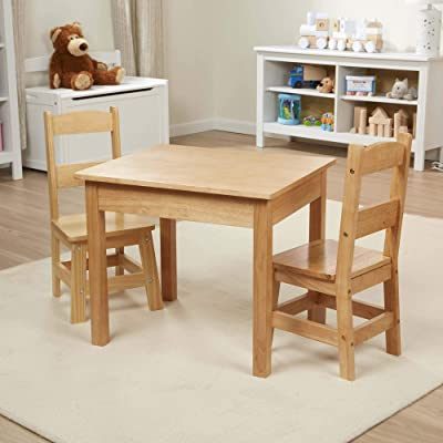 Melissa & Doug Tables & Chairs 3-Piece Set - Natural: Melissa & Doug: Toys & Games