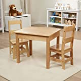 Melissa & Doug Tables & Chairs 3-Piece Set - Natural & Wooden Toy Chest - Natural