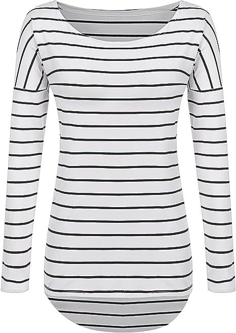 black and white striped shirt womens
