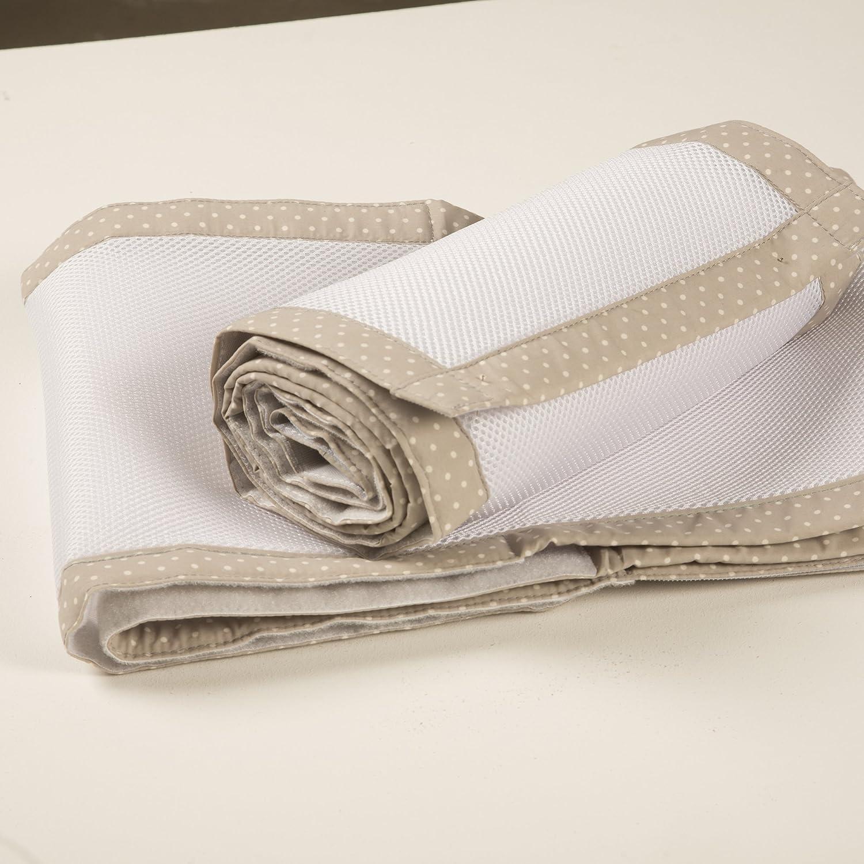 Purflo Purair Breathable Baby Cot / Cot Bed Bumper - Soft Truffle Weybury Hildreth