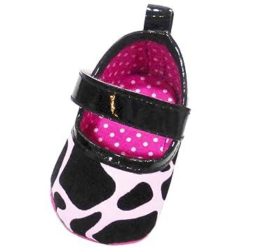 Amazon.com: Vaca Impresión Zapatos para bebé niña en rosa ...
