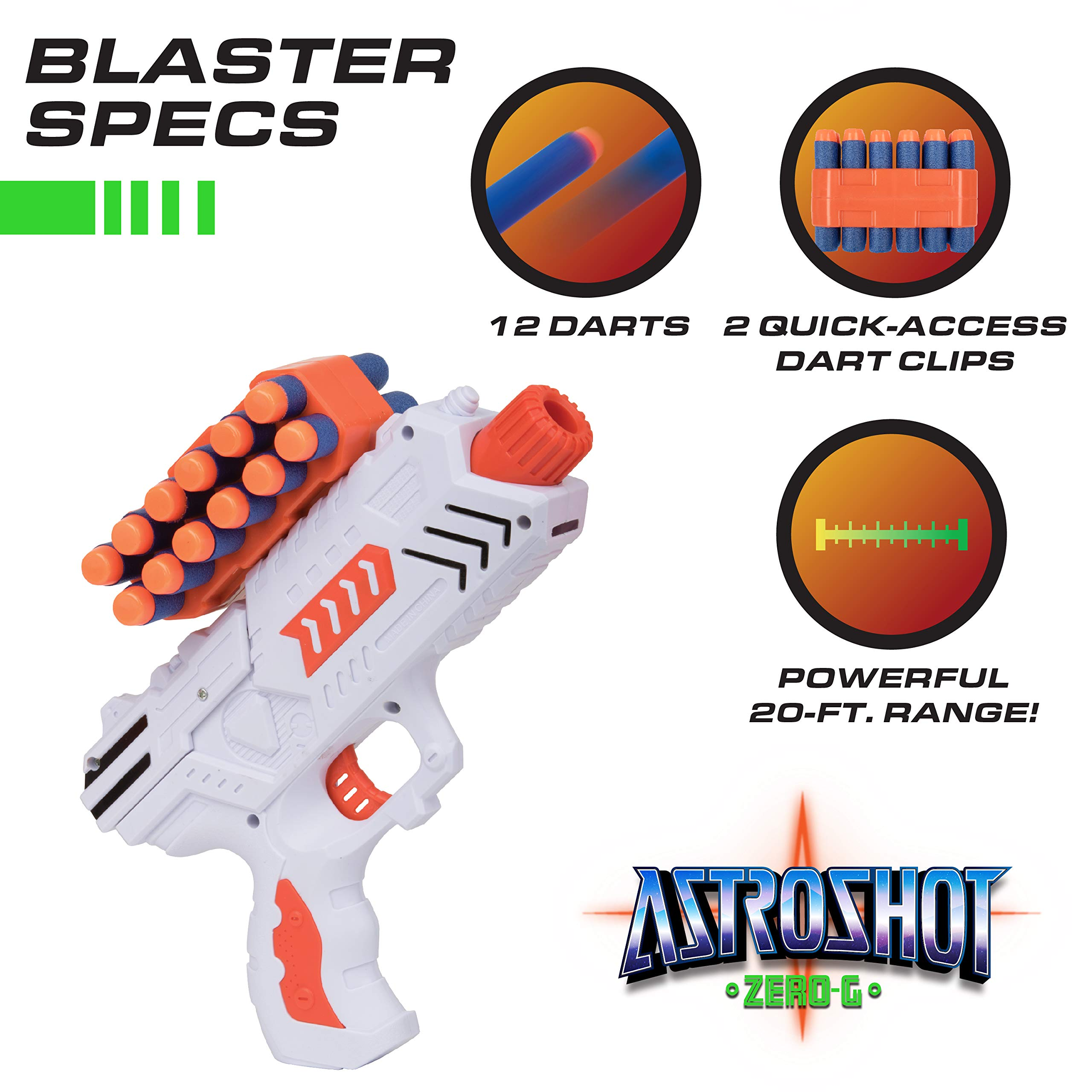 USA Toyz Compatible Nerf Targets for Shooting - AstroShot Zero G Floating Orbs Nerf Target Practice with Blaster Toy Guns for Boys or Girls and Foam Darts by USA Toyz (Image #4)