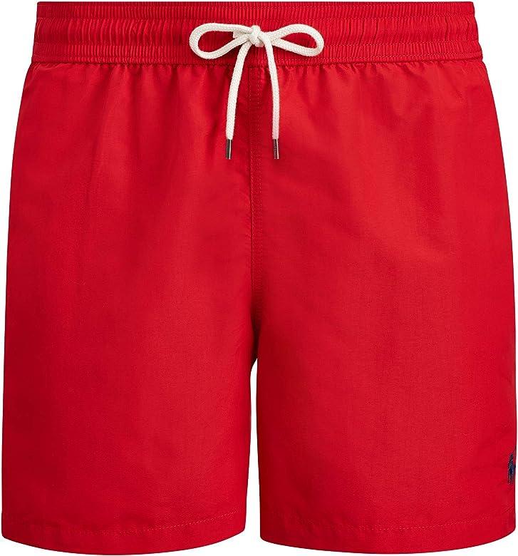 Polo Ralph Lauren Disfraz Hawaiano Pantalones Cortos de Playa Rojo ...