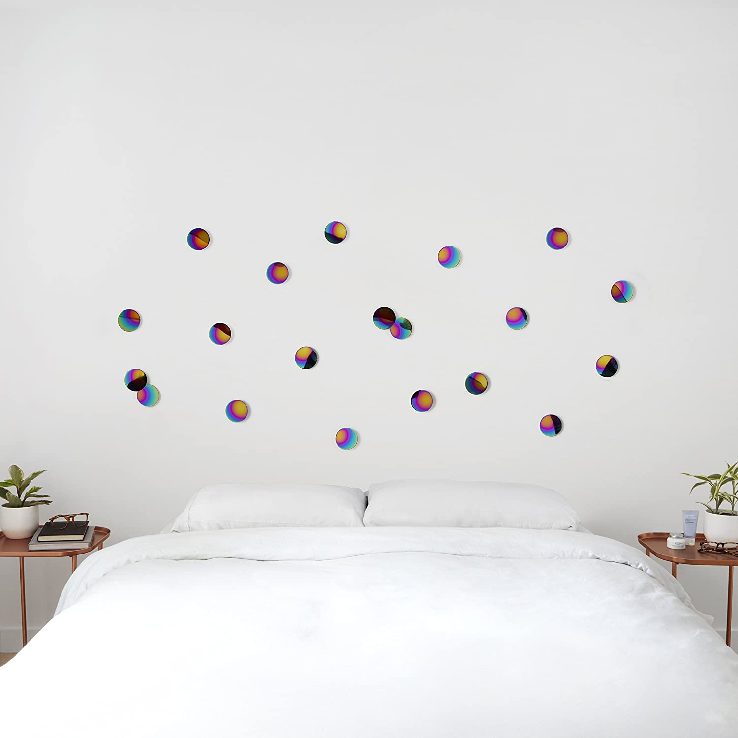 Amazon.com: Umbra Confetti Dots Adhesive Wall Decor, Set Of 10, Rainbow:  Home U0026 Kitchen