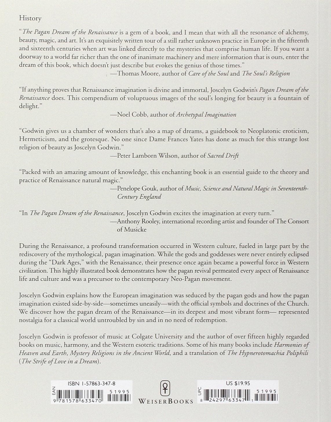 The Pagan Dream Of The Renaissance Joscelyn Godwin 9781578633470