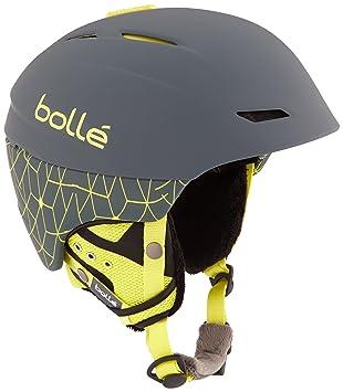 Bollé Casco de esquí Millenium Soft Grey/Yellow Iceberg, 54 – 58 cm,