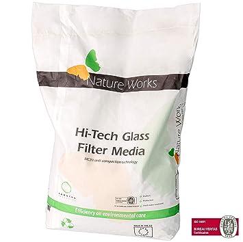 5d153d76 NATURE WORKS Glass Filter Media Vidrio filtrante para Piscinas Etapa 1 -  Saco 10Kg: Amazon.es: Jardín