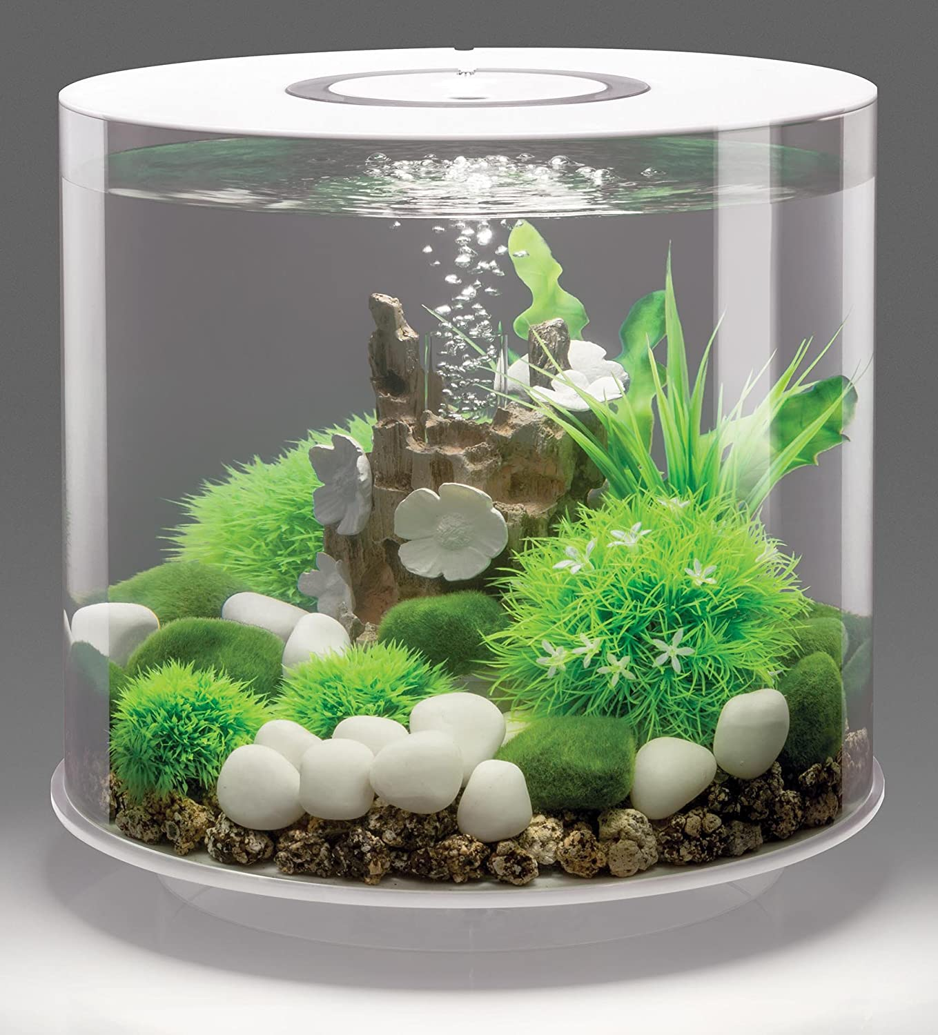 biorb tube wei led beleuchtetes aquarium 15l jetzt kaufen. Black Bedroom Furniture Sets. Home Design Ideas
