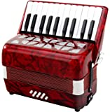 Classic Cantabile 31496 - Acordeón de teclas (junior), color rojo