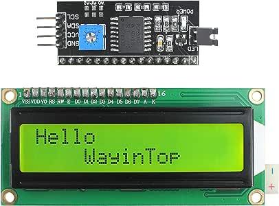 Módulo adaptador de serie IIC//I2C con pantalla de 1602 LCD Pantalla azul o verde Arduino