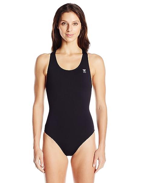 4e2ff497e352c Amazon.com : TYR SPORT Women's Durafast Elite Solid Maxfit Swimsuit ...