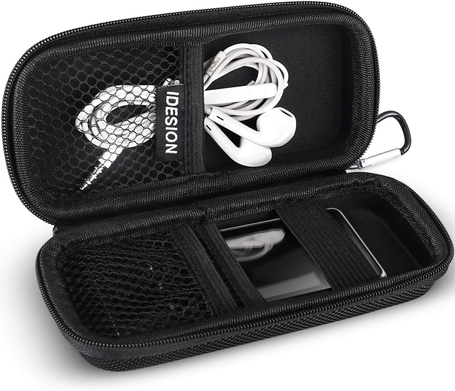 Durable Tough Hard Fabric MP3 Player cover Clamshell Case For SanDisk Sansa Clip