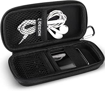 MP3 Player Case KINGTOP Durable Hard Shell Travel Carrying Case for MP3 MP4 Players,iPod Nano,iPod Shuffle,USB Cable,Earphones,Memory Cards,U Disk,Keys (L) (5.51x2.28x1.49inch)