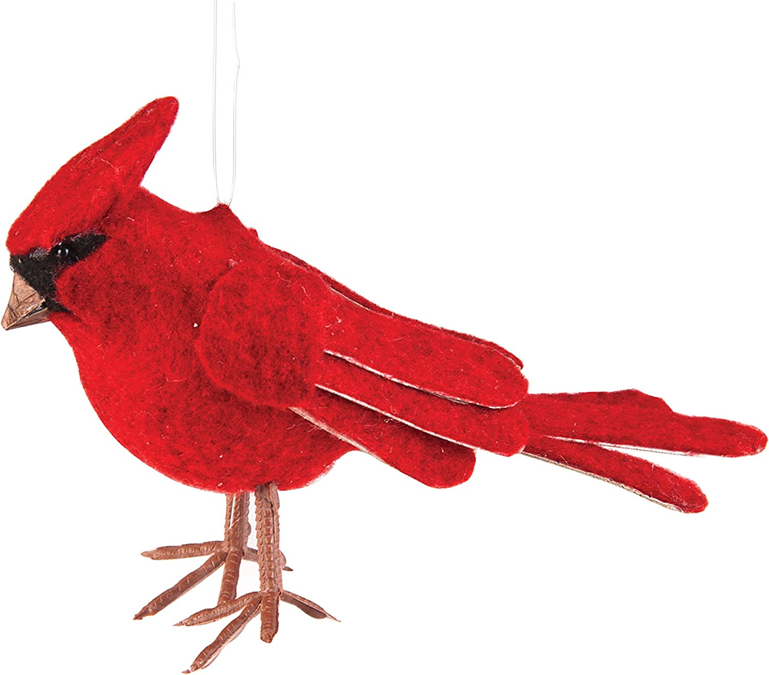 felt ornament Christmas ornament red bird red ornament Nordic red bird white white bird white embroidery red button eye ornament