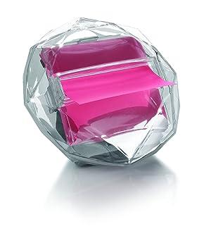 3M Post-it DI-330 - Dispensador de notas adhesivas (125 x 95 x 94 mm), diseño en forma de diamante, transparente: Amazon.es: Oficina y papelería