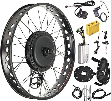 Murtisol Kit de Motor eléctrico para Bicicleta eléctrica, Ruedas Delanteras y traseras de neumático de 20 pulgadas/26 Pulgadas, Kit de conversión de 48 V 1000 W con Pantalla LCD: Amazon.es: Deportes y