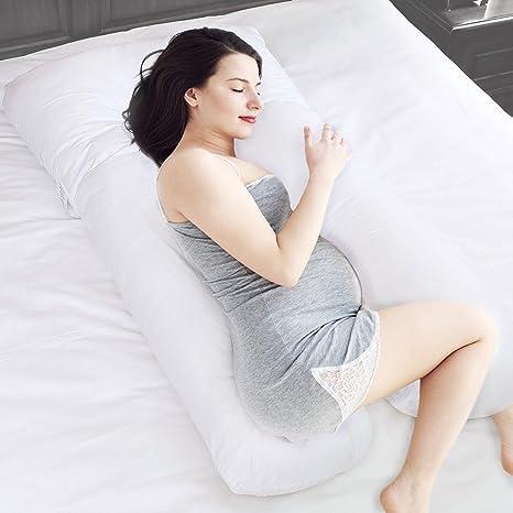 chuckle Almohada Ancha para Maternidad y Embarazo (2.7 m, 9 pies) - Ideal para Mujeres Embarazadas y Lactantes: 100% algodón, Hipoalergénico   + Funda ...