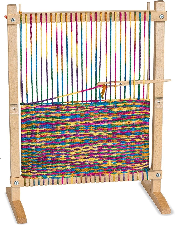 Beginner weaving loom.