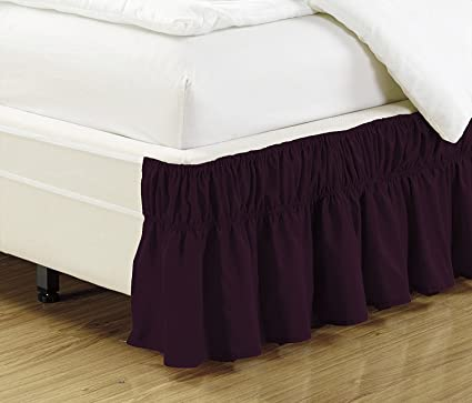 c0918605ed0 Amazon.com  Fancy Collection Twin - Full Easy Fit Bed Ruffle wrap ...