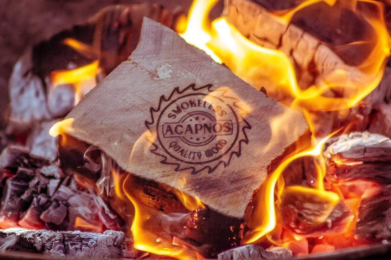 10 kg Acapnos Qualit/äts-Brennholz//Kaminholz Buche 5cm Scheiben inkl offenes Feuer Grillanz/ünder f/ür Feuerschale Grill und Kaminofen