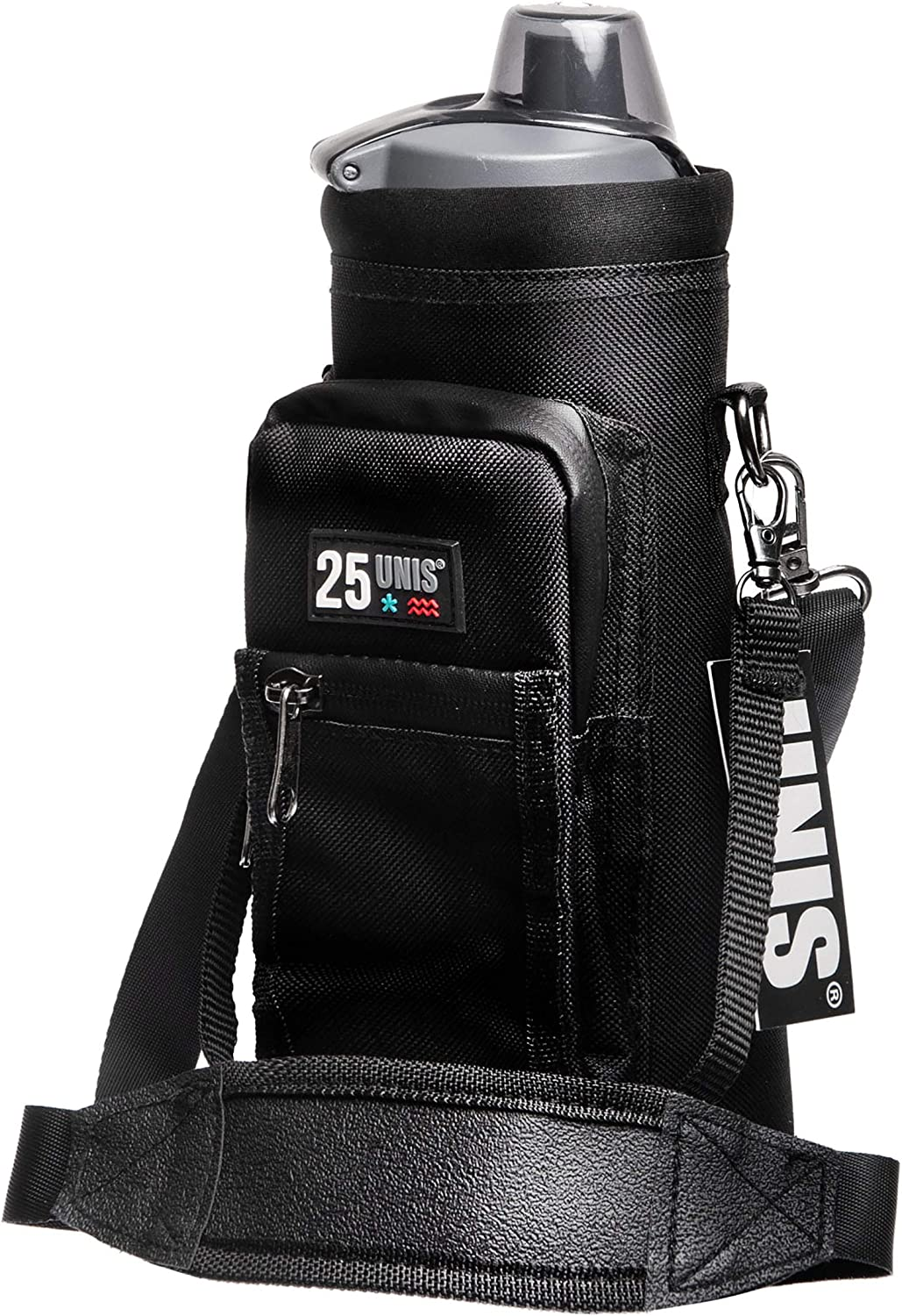UNIS Water Bottle Holder 25oz Insulated Drink Pouch Bag Carrier Sling with Adjustable Strap and Storage Pocket