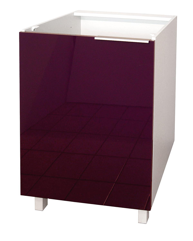 Berlenus CP3BG Kitchen Base Unit 30cm 1 Door High-Gloss Grey