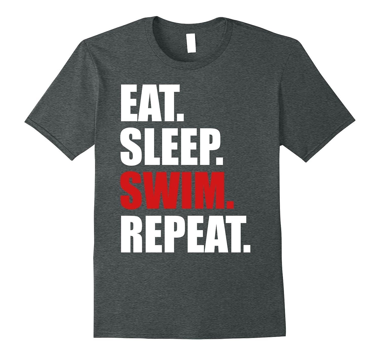 Eat Sleep Swim T-Shirt for Mens Womens Swimming Boys Toddler-ANZ