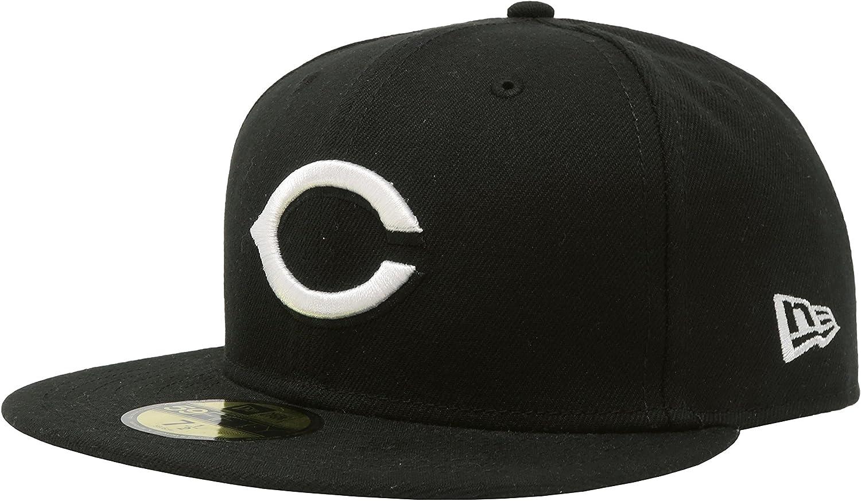 New Era 59Fifty Hat Cincinnati Reds MLB Black Custom Headwear Cap