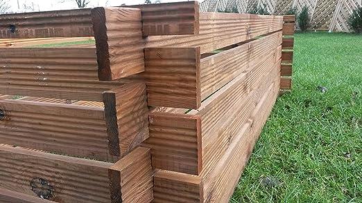 3 Compost Contenedor Estable madera Kom Póster compostador ...