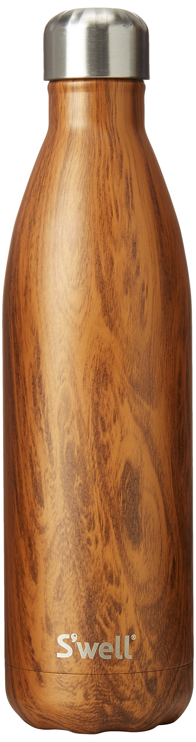 S'well Vacuum Insulated Stainless Steel Water Bottle, 25 oz, Teakwood