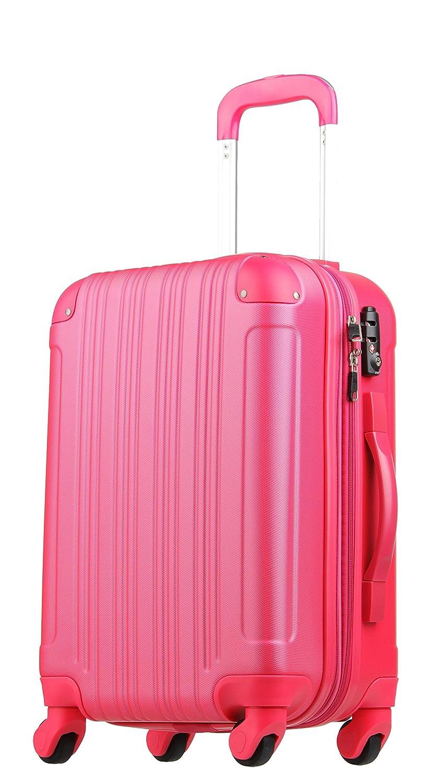 【レジェンドウォーカー】LEGEND WALKER スーツケース 容量拡張 TSAロック 超軽量 マット加工 ファスナー開閉 5082 B01GTEB8V0 Sサイズ(3~5泊/47(拡張時56)L)|マゼンタピンク マゼンタピンク Sサイズ(3~5泊/47(拡張時56)L)